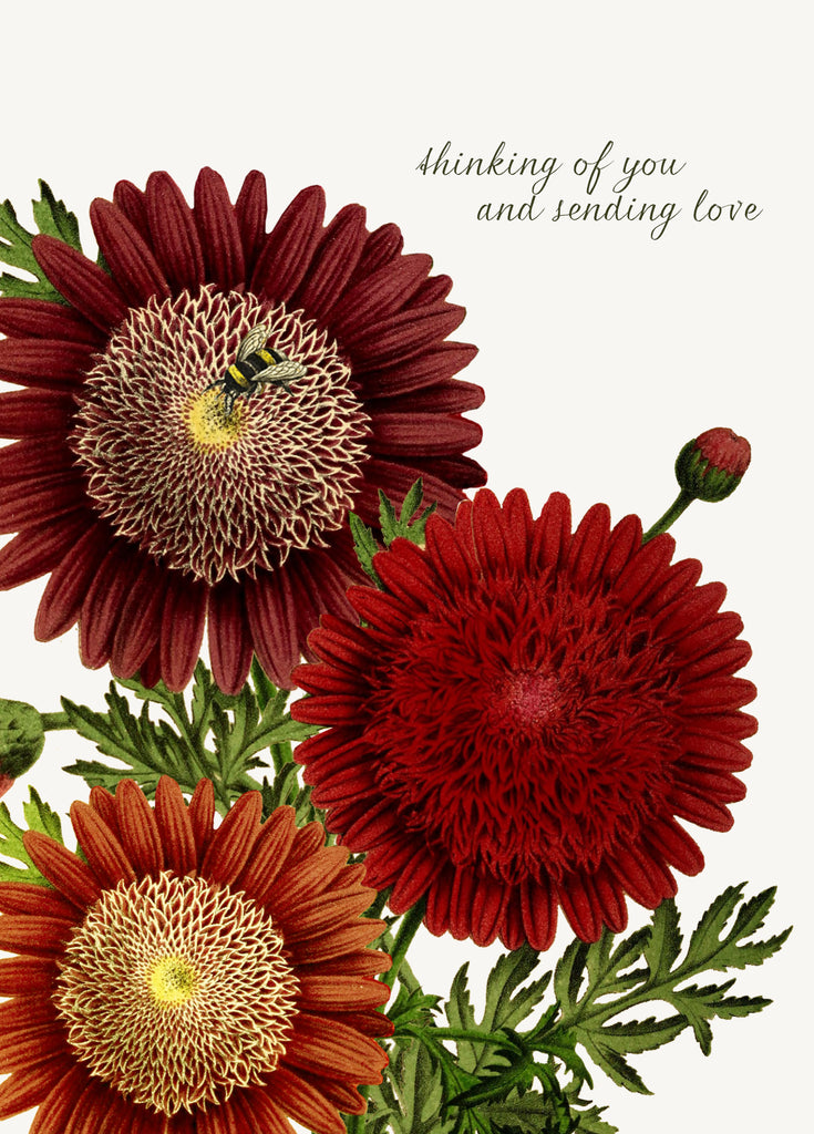 Thinking of you and sending love • A-2 Greeting Card