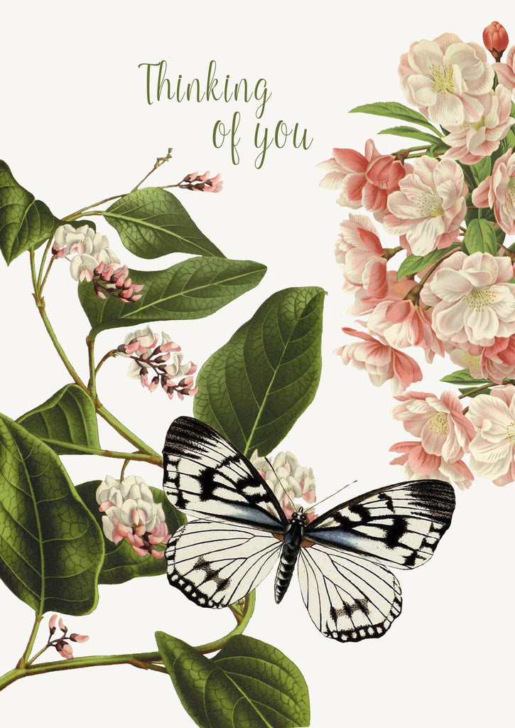 Thinking of you (flower butterfly) • 5x7 Greeting Card