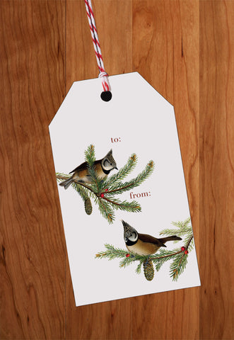 Birds • Holiday Gift Tags