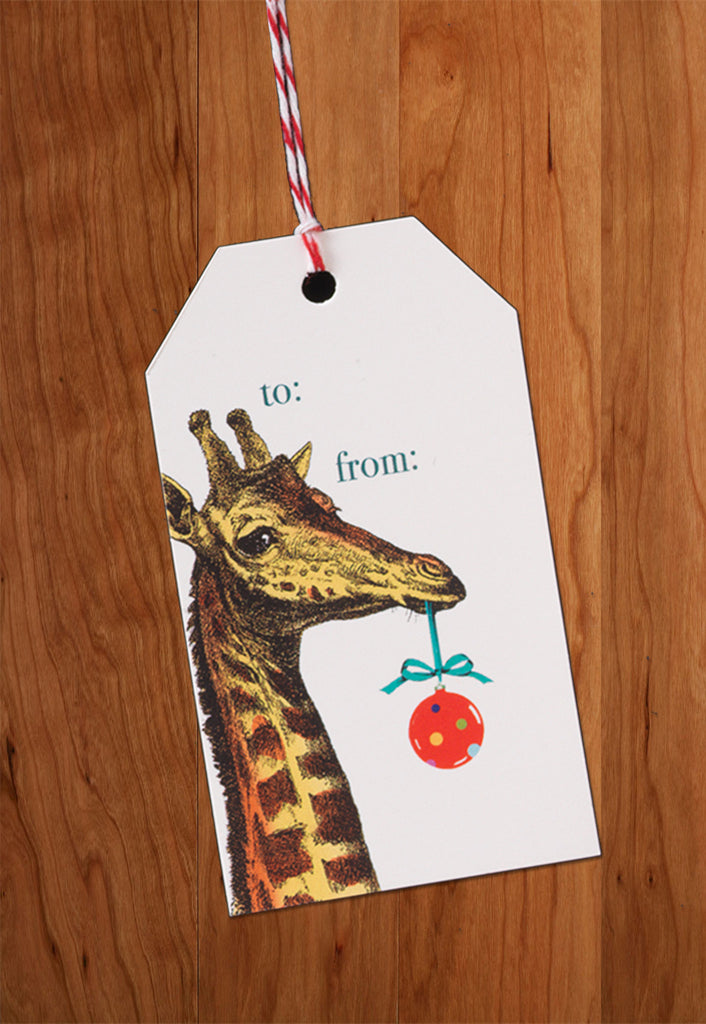 Giraffe • Holiday Gift Tags
