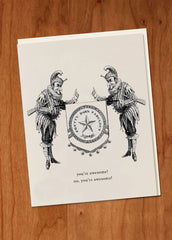 You're Awesome! • Heraldic Greeting Card