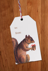 Squirrel • Holiday Gift Tags
