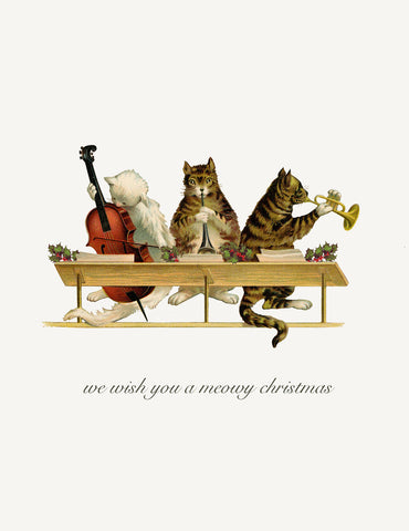 We Wish You A Meowy Christmas • A-2 Holiday Greeting Card