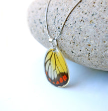 Load image into Gallery viewer, Real Butterfly Wing Necklace - Delias Hyparete