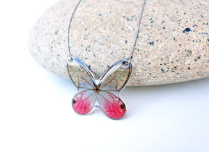 Real Butterfly Wing Necklace - Merolina Butterfly