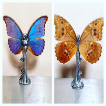 Load image into Gallery viewer, Real Butterfly Fairy Statue - Blue Morpho