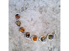 Load image into Gallery viewer, Monarch Butterfly Wing Sterling Silver Bracelet