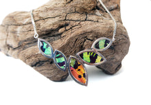 Load image into Gallery viewer, Real Butterfly Sterling Silver Necklace - Sunset Moth Marquis