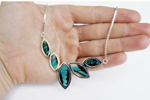 Real Butterfly Sterling Silver Necklace - Graphium Milon