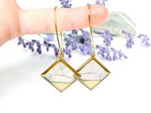Load image into Gallery viewer, Real Butterfly Wing Dangle Earrings - Blushing Phantom Clearwing