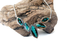 Load image into Gallery viewer, Real Butterfly Sterling Silver Necklace - Graphium Milon