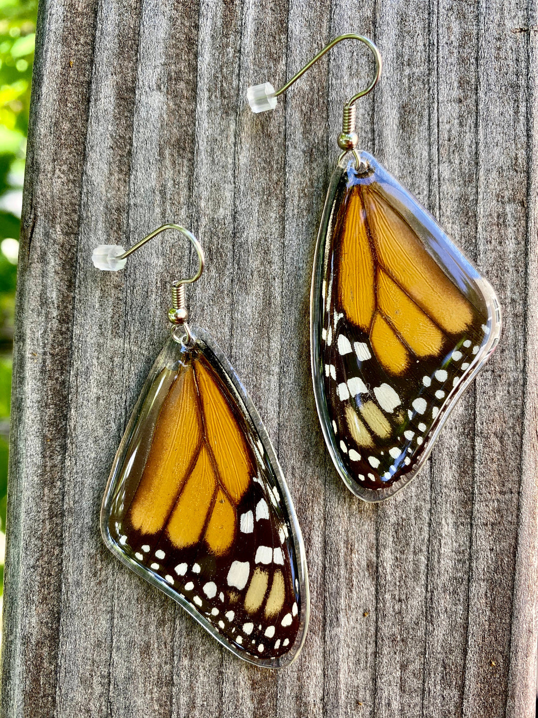 Real Monarch Butterfly Earrings - Monarch Forewing - Butterfly Wings, Butterfly Jewelry, Monarch Jewelry, Gifts For Her