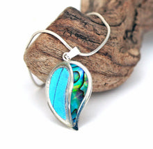 Load image into Gallery viewer, Blue Butterfly and Shell in Sterling Silver Necklace Pendant