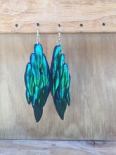 Load image into Gallery viewer, Real Beetle Wing Earrings - Large Fan