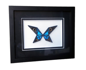8x10 Abstract Butterfly With Real Butterfly Wings In Modern Art