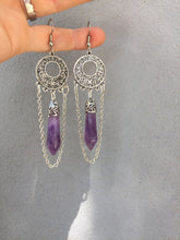 Load image into Gallery viewer, Natural Amethyst Stone Earrings