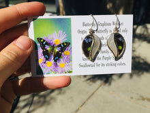 Load image into Gallery viewer, Real Butterfly Wing Earrings with Pearl Shell in Sterling Silver - Graphium Weiskei