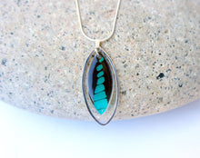 Load image into Gallery viewer, Butterfly Wing Necklace In Sterling Silver - Graphium Milon