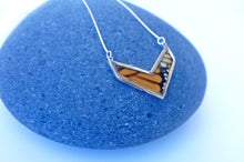 Load image into Gallery viewer, Butterfly Wing Necklace Pendant Jewelry - Monarch Chevron