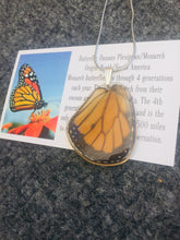 Load image into Gallery viewer, Monarch Butterfly Wing Necklace - Monarch Hindwing