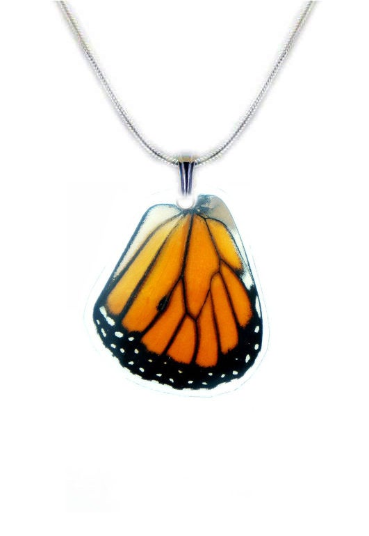 Monarch Butterfly Wing Necklace - Monarch Hindwing