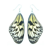 Load image into Gallery viewer, Real butterfly wing earrings - Rice Paper Forewing