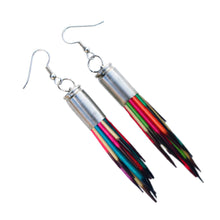 Load image into Gallery viewer, Rainbow Porcupine Quill Earrings - Porcupine Quill Jewelry