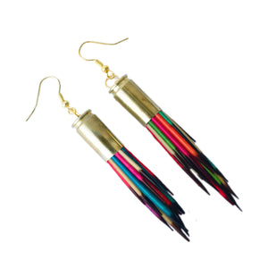 Rainbow Porcupine Quill Earrings - Porcupine Quill Jewelry