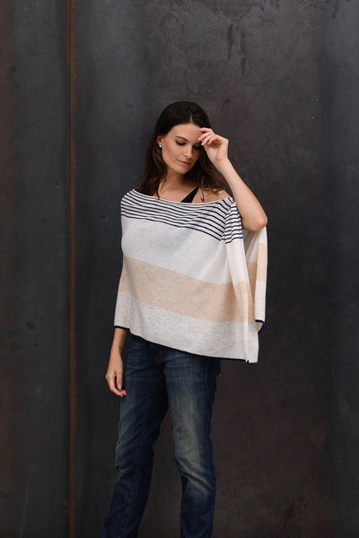 Variegated Stripe Topper 100% CASHMERE (NSC7017)