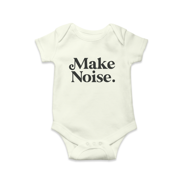 010 MAKE NOISE - Babygrow // Vintage White
