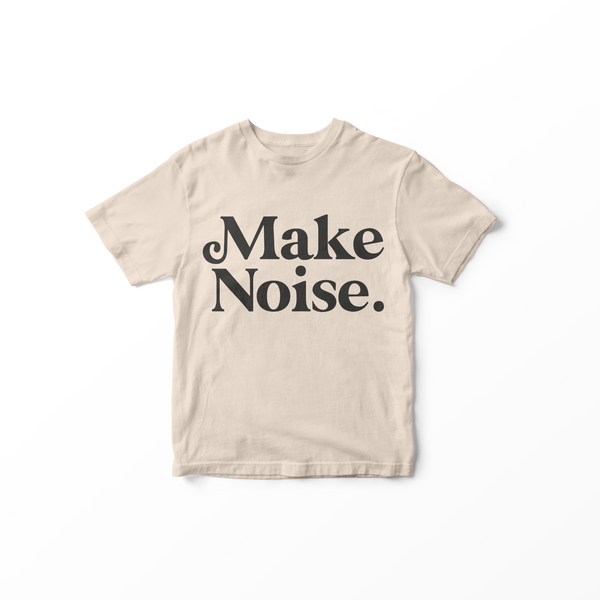 010 MAKE NOISE - Kids T-Shirt // Vintage White