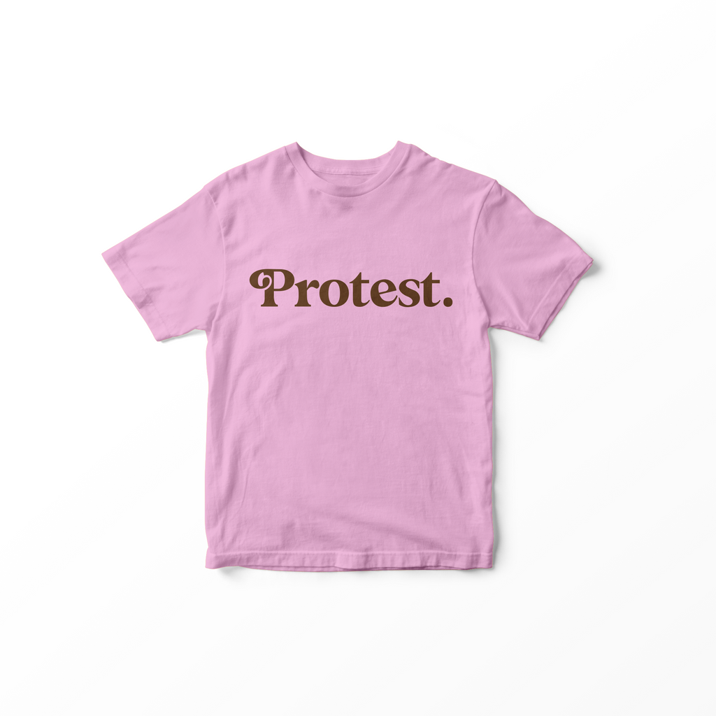 010 PROTEST - Adult T-Shirt // Pink