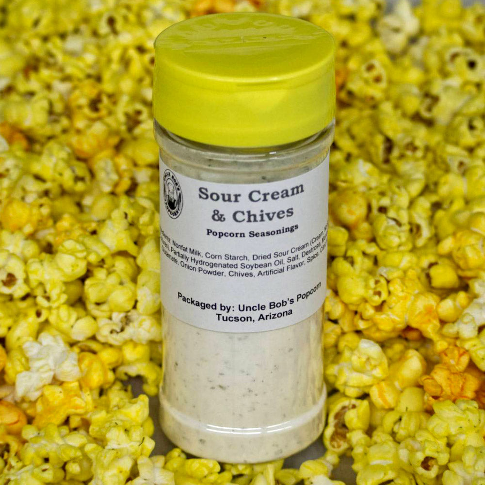 Sour Cream & Chives Popcorn Seasonings - Uncle Bob's Popcorn