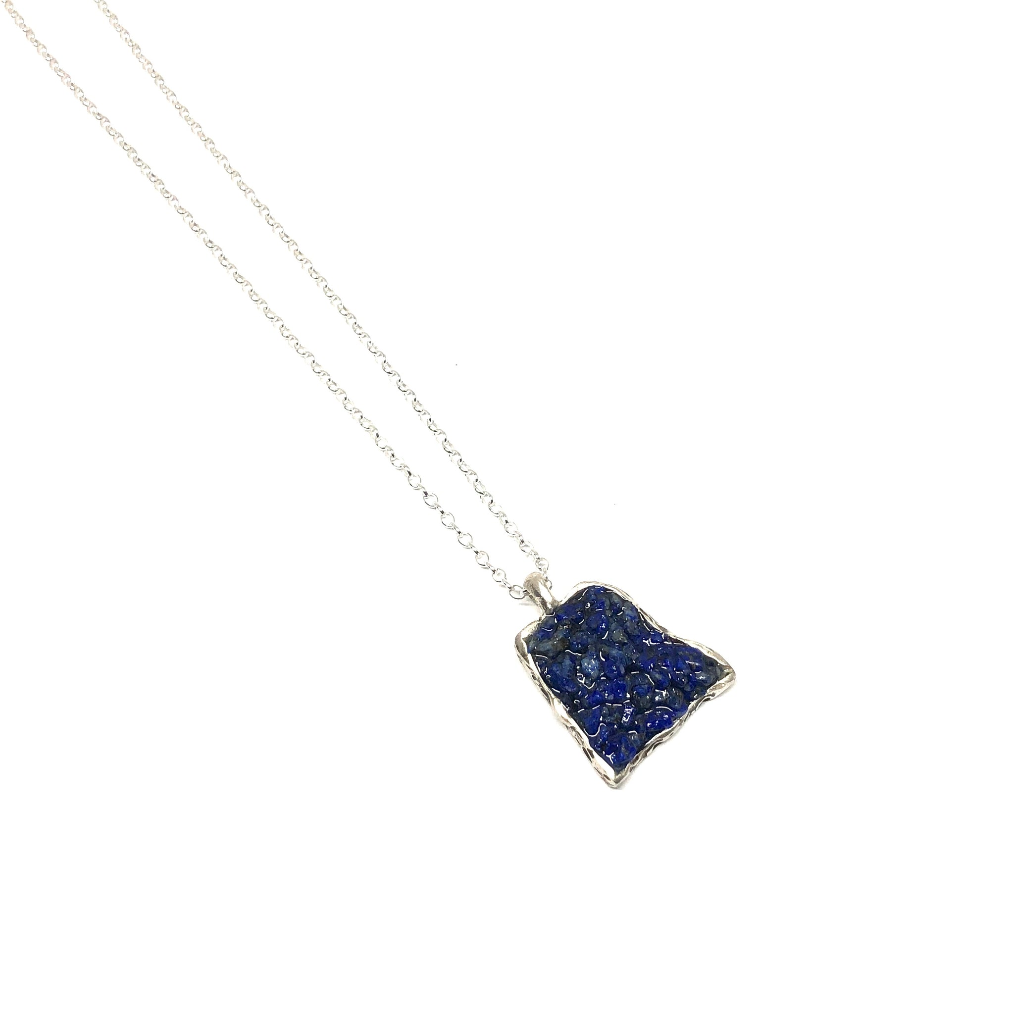 Lapis Crush Pendant