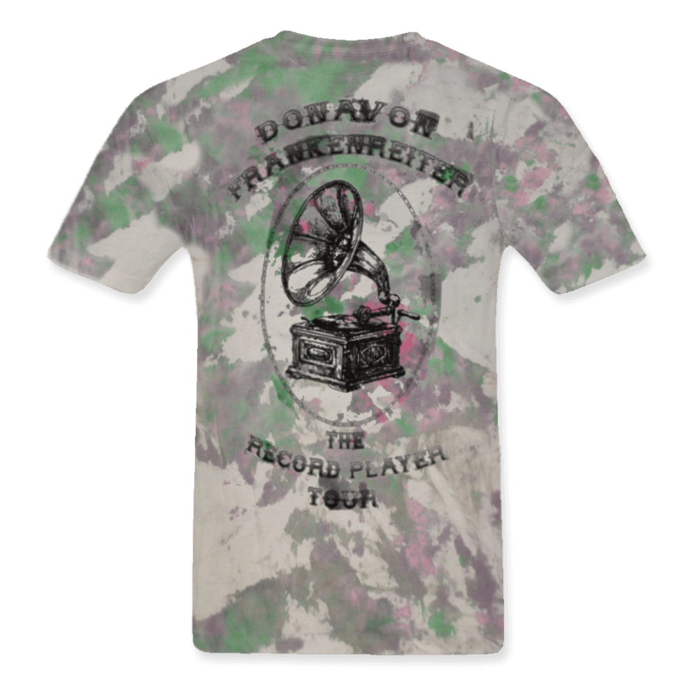 The Record Player Tour Tye Dye Lady Small Tee