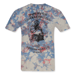 The Record Player Tour Tye Dye Unisex Medium Tee