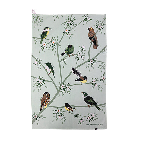 Native Birds & Plants on Tea Towels by DQ