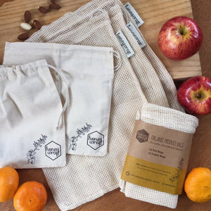 Set of reusable produce bags