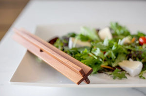 Interlocking Wooden Salad Servers