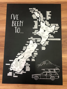 Scratch Map of NZ