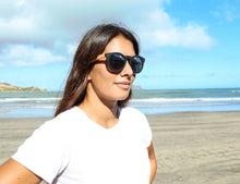 Load image into Gallery viewer, Grace Kelly Bamboo Sunglasses by Moana Road