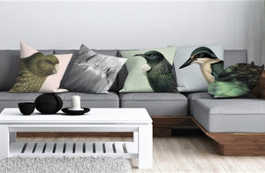Native Bird Cushion Covers - Soft Colours