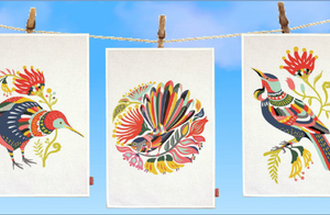 Tofu Tree Bird Tea Towels