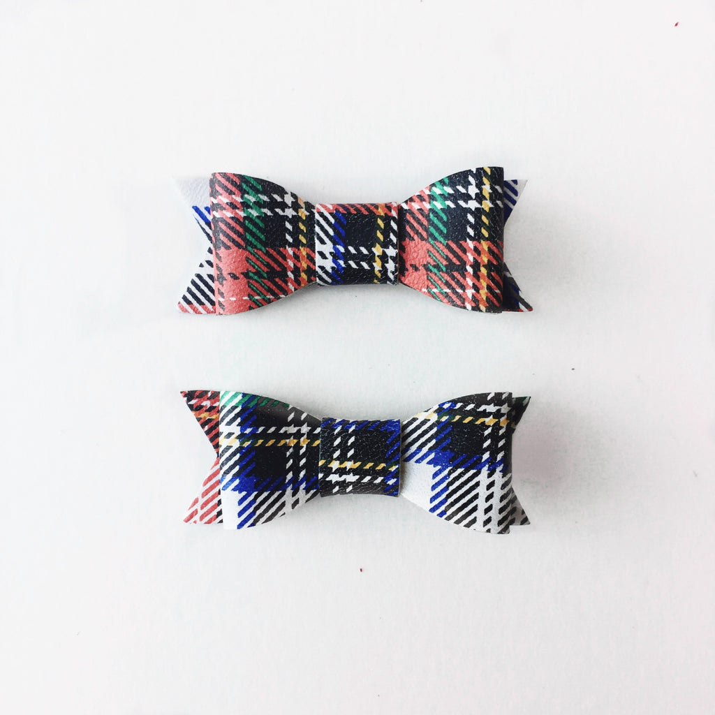 Plaid Pigtail Set