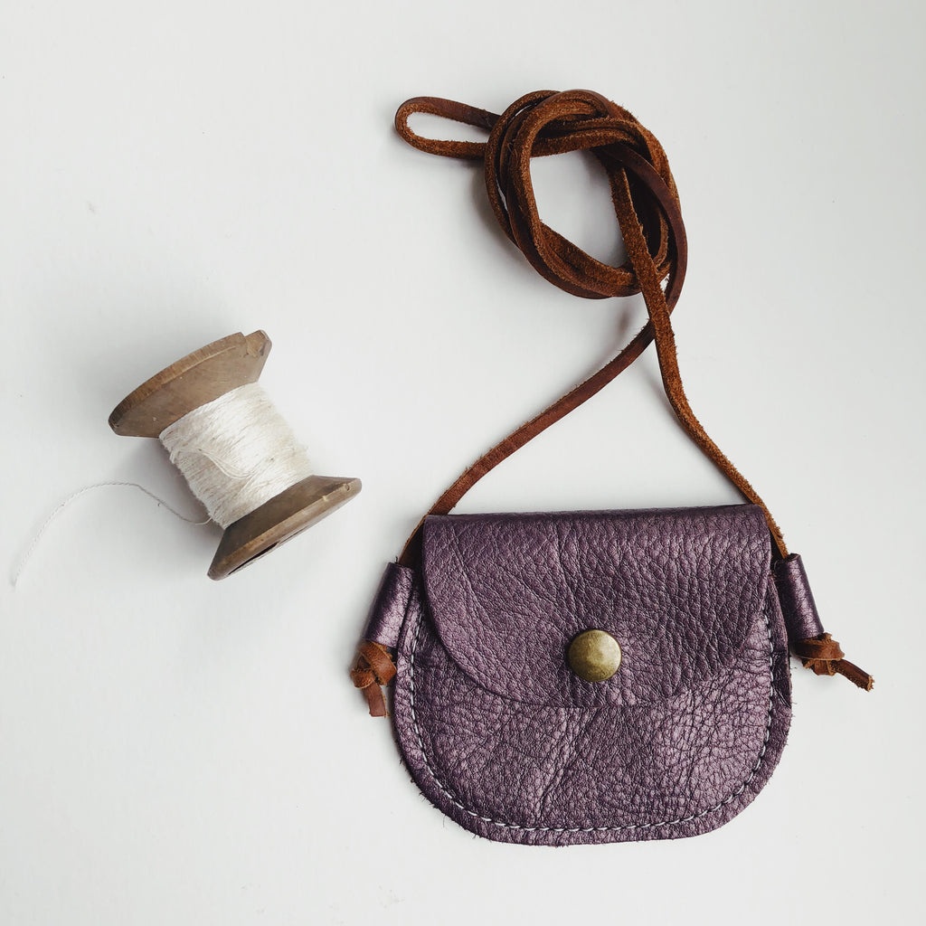 Wanderlust Pocket | Metallic Argyle Purple