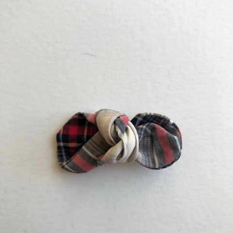 Winter Plaid  Knot Bow