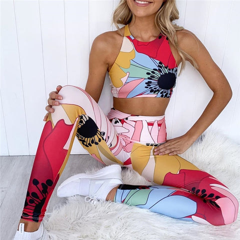 Tulip Leggings and Crop Top Set