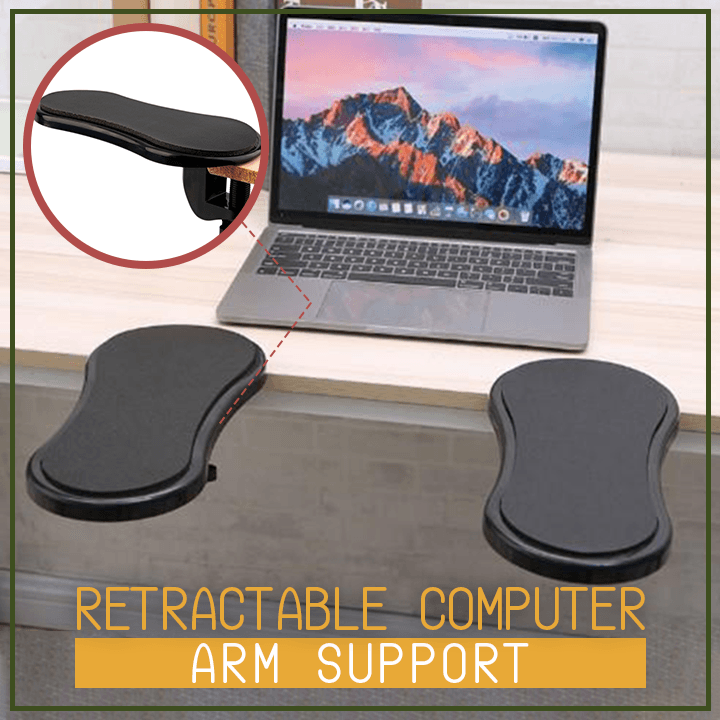 Retractable Computer Arm Support