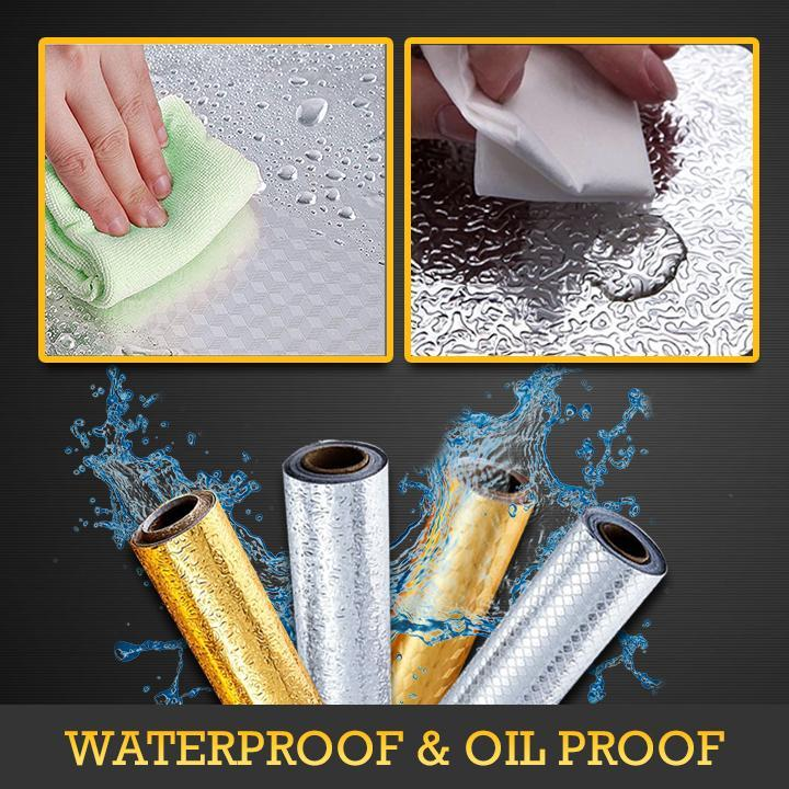 Oil-proof Aluminum Adhesive Wall Stickers