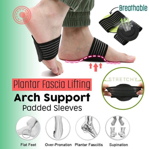 Plantar Fascia Lifting Arch Support Padded Sleeves
